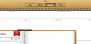 ical skeuomorphic apple design
