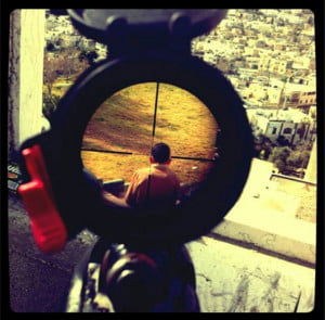 IDF soldier child in crosshair instagram