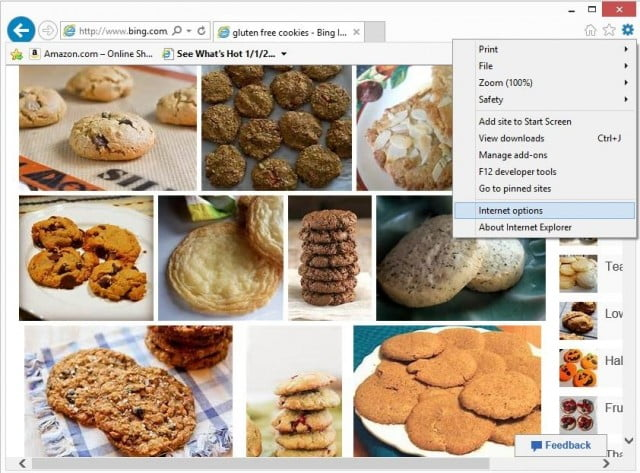 Removing cookies from internet explorer