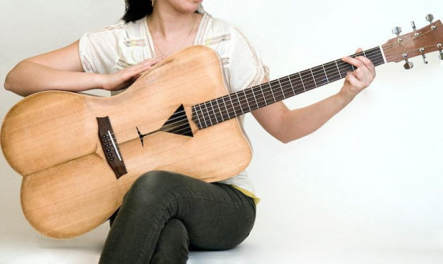 Female shape guitar
