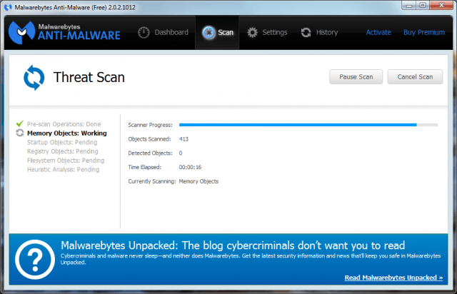 Malwarebytes Anti-Malware Free (Windows)