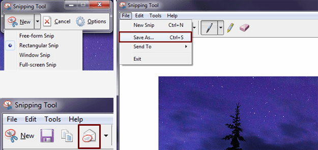 Snipping Tool Save As Navigation