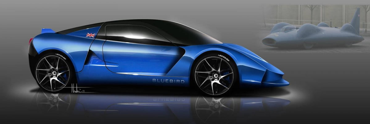 bluebird dc  electric sports car