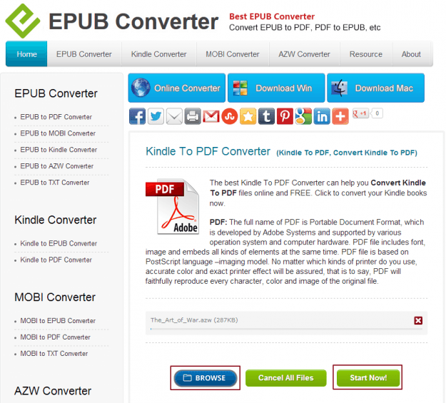 EPUB Converter Kindle to PDF Upload