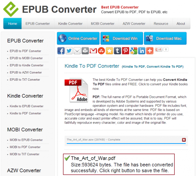 EPUB Converter PDF Conversion Complete