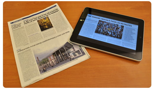 ipad vs newspaper
