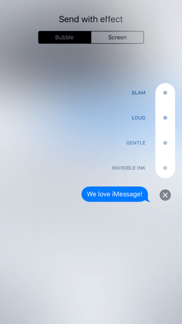 how to use imessage effects