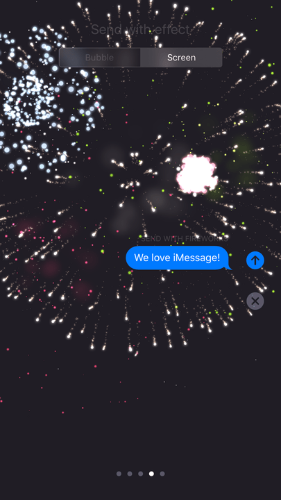 how to use imessage fireworks