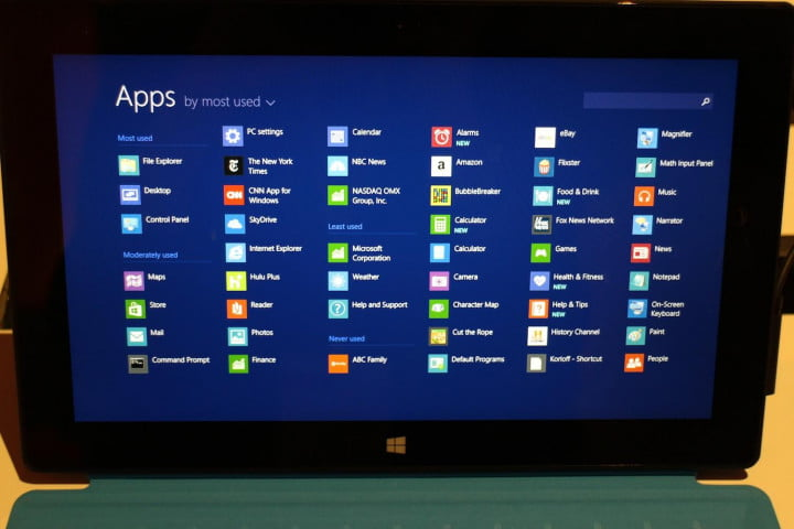 windows  preview review all apps view