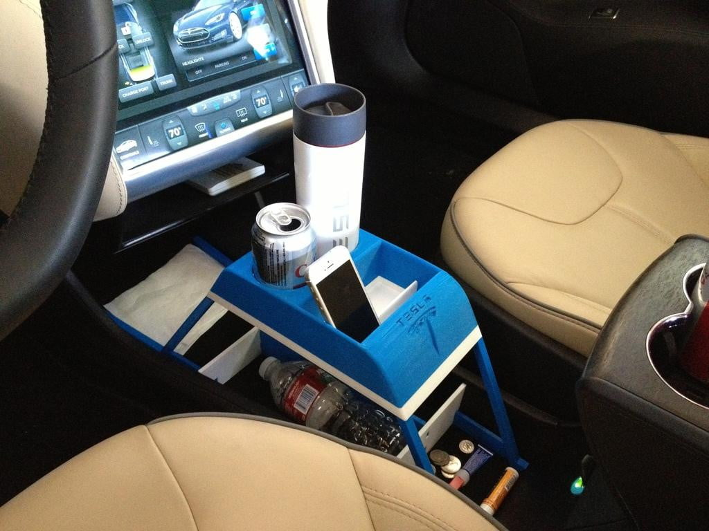 cup holder tesla model s  d print one glue x acto knife included img display large