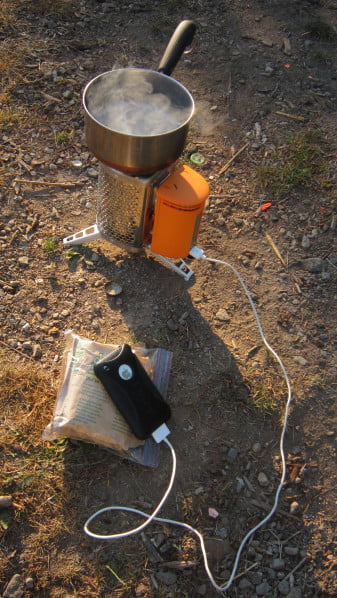 BioLite CampStove connected to iPhone