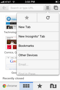 chrome iphone incognito