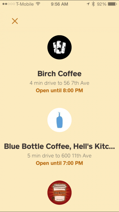 squares order app coffee pickup square