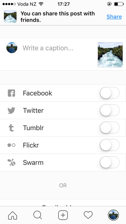 how to find an instagram post through caption
