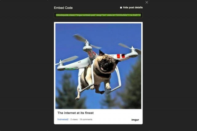 imgur makes it easy to repost memes with new embed code option