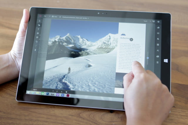 New Touch workspaces for touch-enabled Windows devices.