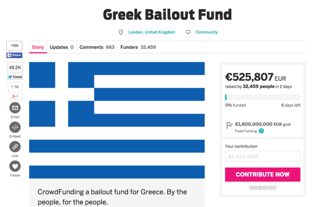british man tries to pay off greek debt with crowdfunding campaign indiegogo bailout