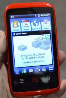inq cloud touch facebook phone