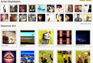 Instacanvas artist highlight and discover