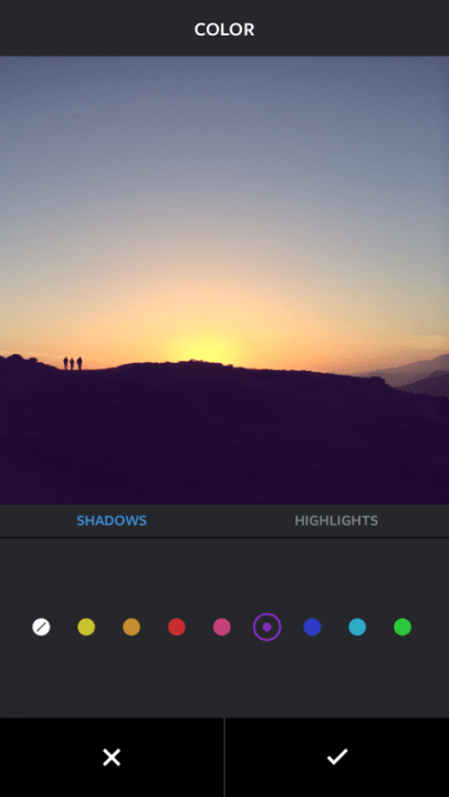 instagram fade and color tools colour
