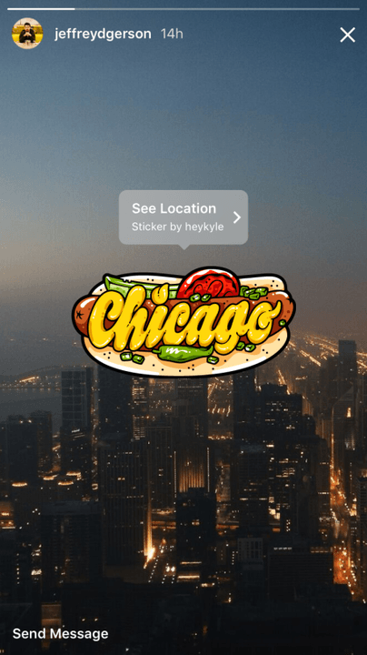 instagram claims  million stories users geosticker chicago