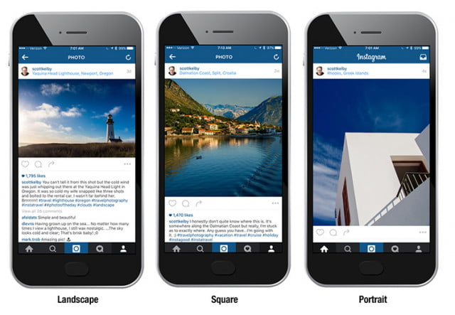 instagram photo cropping aspect ratio sizes