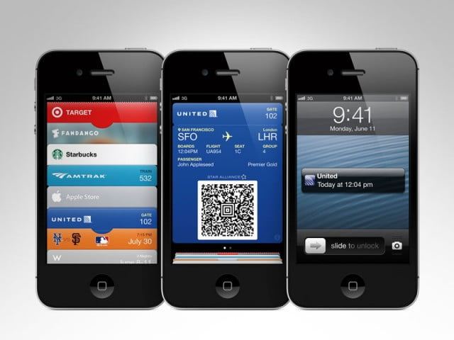 ios  passbook iphone press x