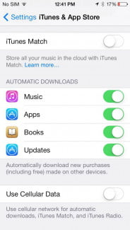 ios 7 app store automatic downloads good