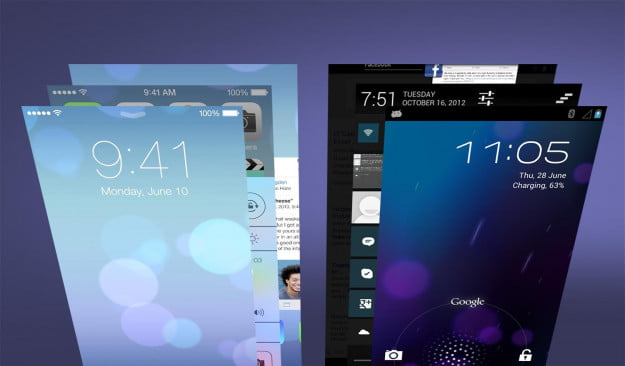 iOS 7 vs Android Jelly Bean