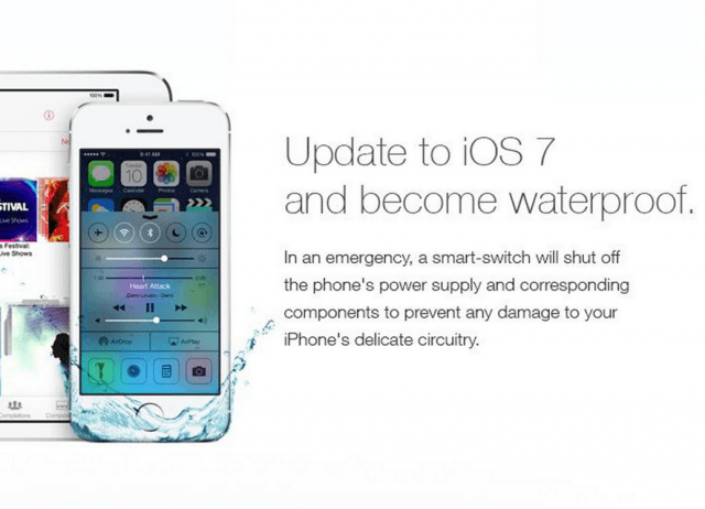 ios  does not make your phone waterproof