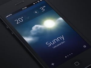 iOS 7 Weather Concept