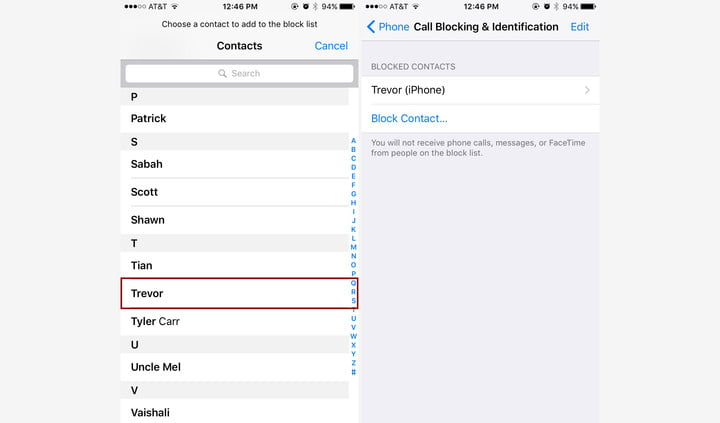 how to see blocked calls on iphone 4