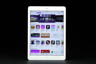 iPad air front app store