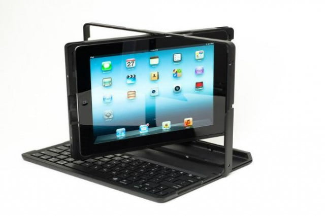 ipad case lets use like laptop adds full keyboard well dock