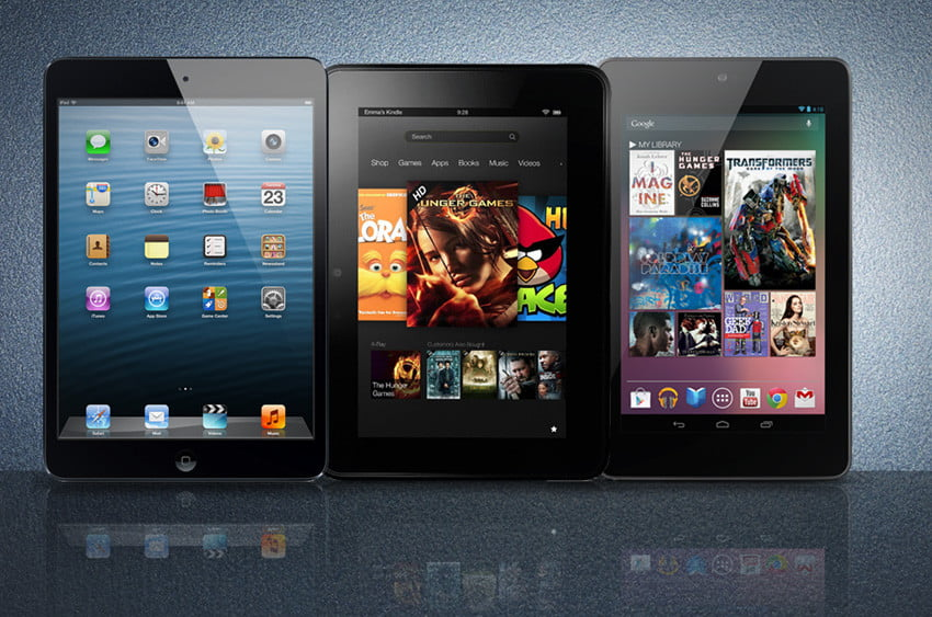 iPad mini vs Kindle Fire HD vs Nexus 7: Spec Showdown