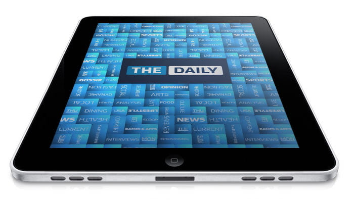 the daily review hands on with first ipad only newspaper  app