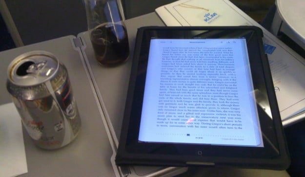 iPad on an airplane