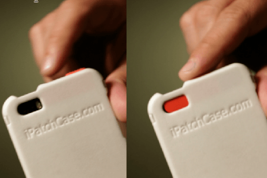 ipatch case protects iphone camera lens white