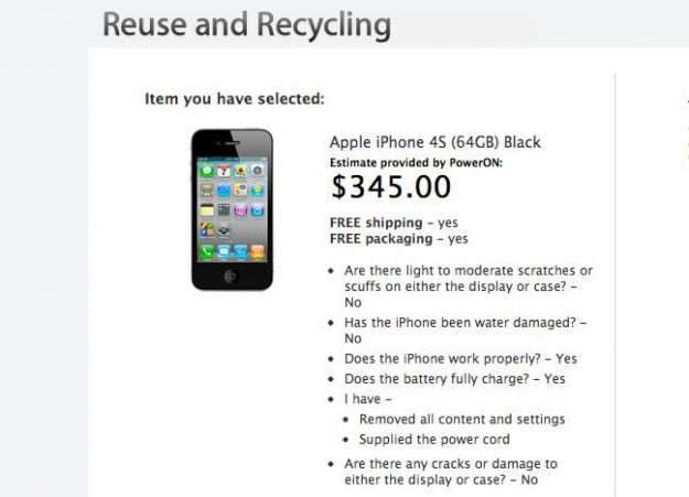 iPhone 4S trade-in