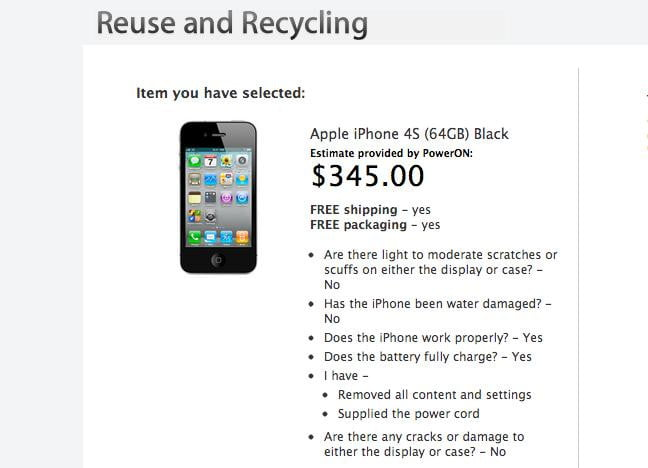 Iphone 4 trade in options