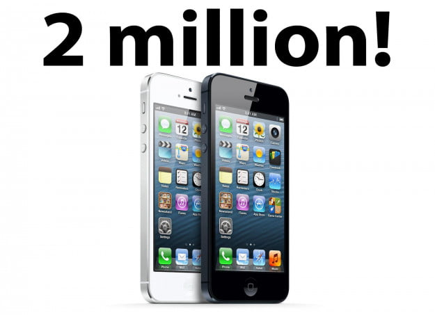 Apple: 2 million iPhone 5 sold