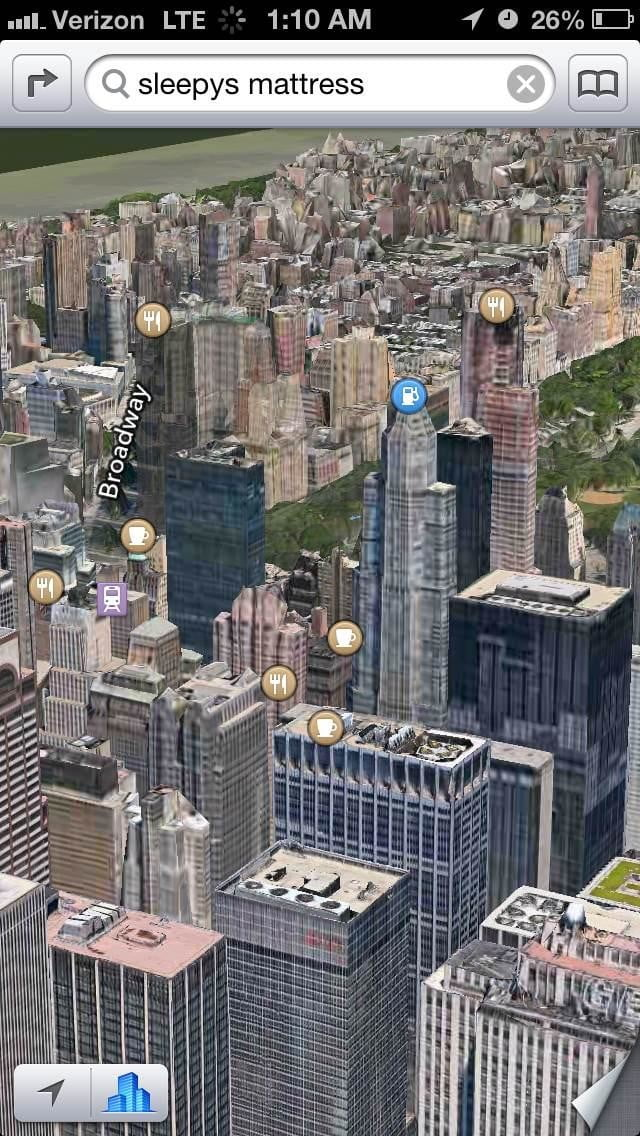 iphone 5 ios 6 3d maps