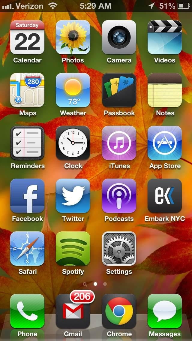 iphone 5 ios 6 home