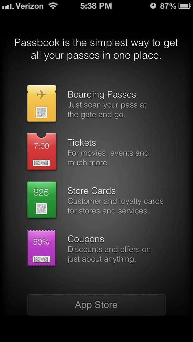 iphone 5 ios 6 passbook