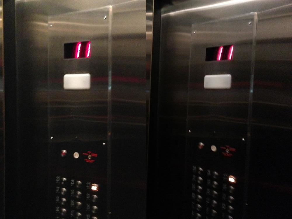 iPhone 5 vs samsung galaxy s3 camera sample inside elevator