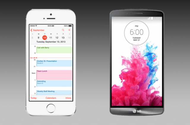 iPhone 5S and LG G3