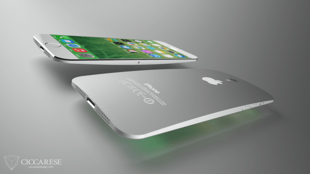 iPhone 6 power and volume buttons concept by Federico Ciccarese
