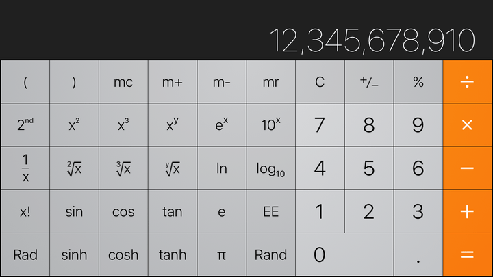 iPhone Calculator app