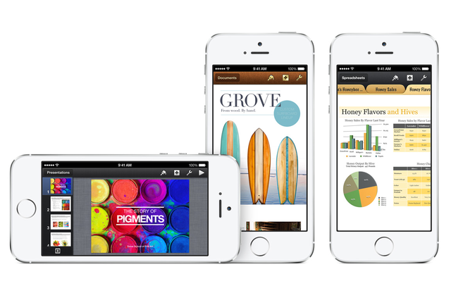 iwork apps free for new iphone owners suite