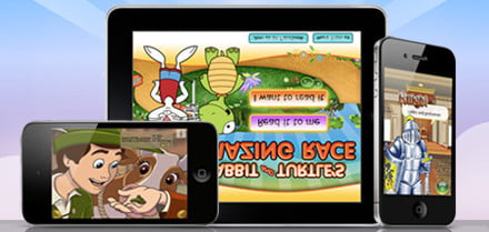 Teaching reading to kids with interactive storybook apps